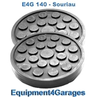 E4G 140 Souriau 2 Post Rubber Lift Pads x2