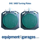 E4G S400 Turning Plates for 4 Post Ramps (Set of 2) Heavy Duty Ball Bearing type