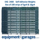 E4G 2400 Wheel Weights Stick-on 4 x5g and 4x10g x100 Strips