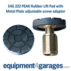 E4G 222 Peak Metal Plate Screw Threaded with Pad