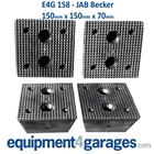 E4G 158 JAB Becker Scissor Lift Rubber Blocks x4
