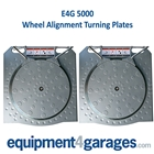 E4G 5000 Wheel Alignment Turning Plates-Aluminium