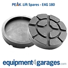 E4G 180 Peak 2 Post Rubber Lift Pads x2