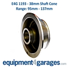 E4G 1193 95mm to 137mm Wheel Balancer Cone for 38mm Shaft