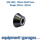 E4G 1831 54mm to 81mm Wheel Balancer Cone for 28mm Shaft
