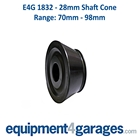 E4G 1832 70mm to 98mm Wheel Balancer Cone for 28mm Shaft