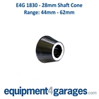E4G 1830 44mm to 62mm Wheel Balancer Cone for 28mm Shaft
