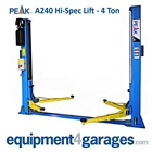 E4G A240 PEAK 2 Post Lift 4 Ton Hi-Spec 1ph/3ph