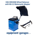 E4G CB910GB Wheel Balancer with MJ-11 Motorcycle Wheel adapter