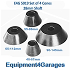 E4G 5019 4x 28mm Shaft 40mm-145mm Cones