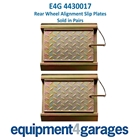 E4G 4430017 Rear Wheel Alignment Slip Plates