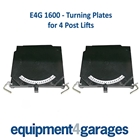 E4G 1600 Turning Plates for 4 Post Lifts (Set of 2) Heavy Duty with Ball Bearings