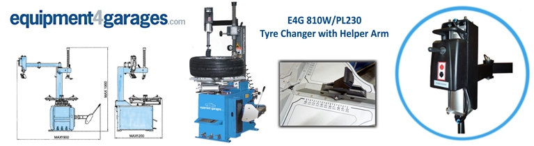 Semi-Automatic Car Tyre Changer with Helper Arm