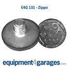 E4G 131 Zippo 2 Post Rubber Lift Pads on Adjustable Screw Plates x2
