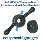 E4G 5015403 Wing Quick Nut 40mm shaft 3mm thread pitch