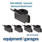 E4G 440528 Plastic Insert only-suitable for some Cormach Tyre Changer Demount Head