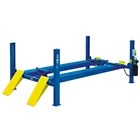E4G 409A PEAK Wheel Alignment 4 Post Lift 4 Ton With 4600mm Platforms 1ph/3ph
