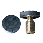 E4G 222 Peak Metal Plate Screw Threaded with Pad 50mm