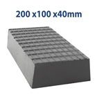 E4G 163 Universal Scissor Lift Rubber Blocks x2