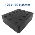 E4G 220 Universal Scissor Lift Rubber Blocks x2