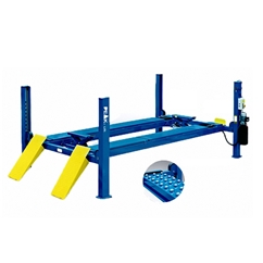 E4G 414A PEAK Wheel Alignment 4 Post Lift 6.5 Ton Capacity With 5500mm Platforms 1ph/3ph