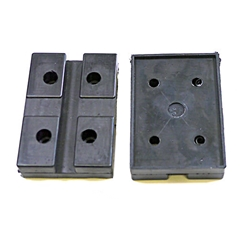 E4G 183 Chinese 2 Post Rubber Lift Pads x2
