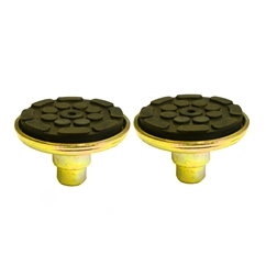 E4G 141 PEAK Metal Base Plate with Rubber Pads x 2 for PEAK 2 Post Lifts 38mm